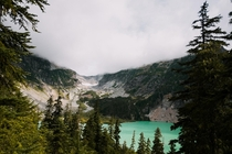 Just starting to clear away the morning fog Blanca Lake WA