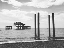 Just took this photo of Brighton Pier which burnt down in  beautiful