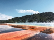 Just when I thought nothing could surprise me anymore I stumble into Yellowstone Grand Prismatic Spring Yellowstone National Park USA