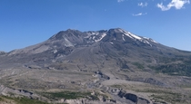 Just  years ago Mt St Helens was  feet taller it didnt have a crater thats a mile wide and the entire landscape below it was covered in dense forest x