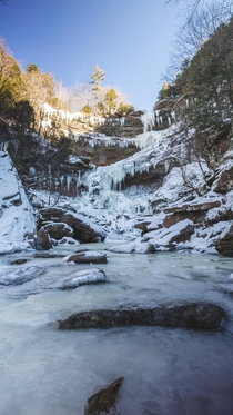 Kaaterskill Falls in Winter Catskills State Park NY