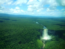 Kaieteur Falls on the Potaro River in Kaieteur National Park central Essequibo Territory Guyana