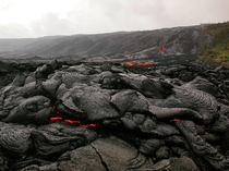 Kalapana Lava Flow Island of Hawaii