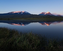 Kamchatka Russia hosts  volcanoes of which  active Here are some I captured during sunset