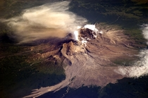 Kamchatka Russian Volcano  by Cosmonaut Fyodor Yurchikhin during Expedition  from the ISS