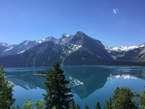 Kananaskis Alberta on a hot and sunny day