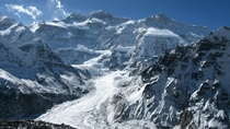 Kangchenjunga the third highest mountain in the world IndiaNepal
