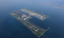 Kansai International Airport situated on an artificial island in Osaka Bay Terminal  is the longest in the world at km in length