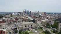Kansas City Missouri from the top of the National World War I Memorial