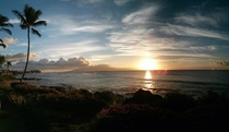 Kapalua Hi at sunset tonight Got lucky with my Nexus