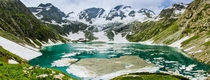 Katora Lake An alpine glacial lake located in the upper reaches of Jahaz banda Kumrat valley Pakistan  By Murtaza Mahmud