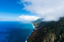 Kauai Hawaii from a helicopter