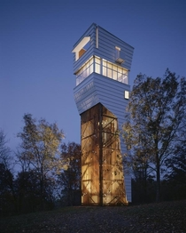 Keenan TowerHouse in Fayetteville Arkansas  by Marlon Blackwell Architect