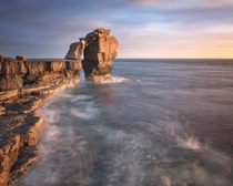 Keeper of the Keys Pulpit Rock in the Evening Dorset United Kingdom  by ansharphoto