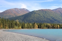 Kenai Lake Alaska in Sept