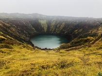 Keri is a volcanic crater lake located in the Grmsnes area in south Iceland along the Golden Circle The caldera itself is approximately  m  ft deep  m  ft wide and  m  ft across Keris caldera is one of the three most recognizable volcanic craters -