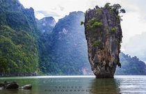 Khao Phing Kan also known as James Bond Island Thailand  photo by Sendeed