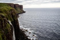 Kilt Rock and Mealt Falls in Isle of Skye Scotland