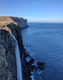 Kilt Rock in Ellishadder Scotland