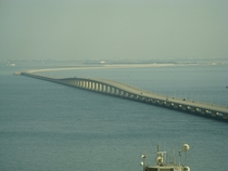 King Fahd Causeway connecting Bahrain to Saudi Arabia