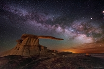 King of Wings Hoodoo Outcrop under the Milky Way