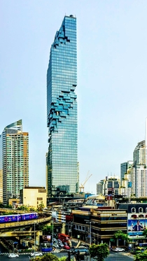 King Power Mahanakhon building in Bangkok The nd tallest in Bangkok Wonder why it doesnt break in the middle Haha