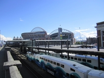 King Street Station and CenturyLink Field Seattle Washington