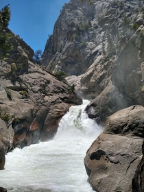 Kings Canyon National Park CA Roaring River Falls definitely a gem of a national park