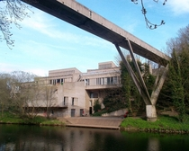 Kingsgate Bridge and the brutalist Durham University Student Union Building also known as Dunelm House both designed by Sir Ove Arup who was the design engineer of the Sydney Opera House Durham County Durham United Kingdom