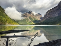 Kinney lake in Mt Robson Provincial Park BC