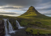 Kirkjufell and Kirkjufellsfoss Snfellsnes Peninsula Iceland More in comments