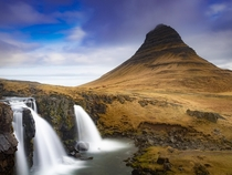 Kirkjufell on Icelands Snfellsnes Peninsula Had some mixed weather in the sky