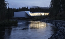 Kistefos sculpture park Museum That Doubles as a Bridge in Norway by Bjarke Ingels