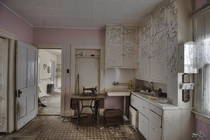 Kitchen Inside an Abandoned Time Capsule Farm House