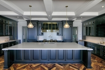 Kitchen the size of an apartment in vacant mansion Ontario Canada