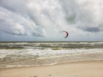 Kite surfing after tropical storm Barry Perdido Key Beach Florida  OC