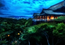 Kiyomizu-dera temple overlooks the city of Kyoto Japan