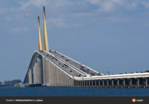 km long Sunshine Skyway Bridge spanning the Lower Tampa Bay connecting St Petersburg Florida to Terra Ceia It was opened in  and designed by the Figg amp Muller Engineering Group