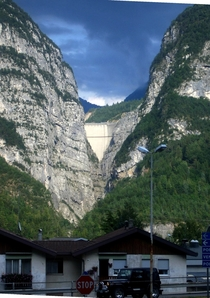 KM North of Venice - Vajont Dam - A  landslide caused the overtopping of the dam and around  deaths