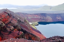 km or so from Landmannalaugur basecamp Iceland -    -  - Volcanic crater lake