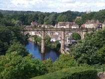 Knaresborough Railway Viaduct River Nidd Knaresborough Yorkshire