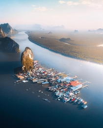 Ko Panyi A floating fishing village in the Phang Nga Province Thailand