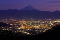 Kofu Japan with Mt Fuji in the background