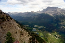 Kootenai Lakes Glacier NP as seen from Porcupine Ridge ranger outpost