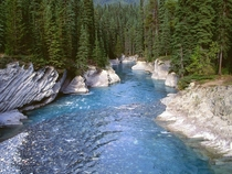 Kootenay River at Kootenay National Park of Canada