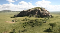 Kopje rising above the plains in Serengeti Tanzania