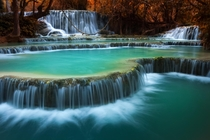 Kouangxi Water Fall Louangphabang Laos  by KitchaKron sonnoy
