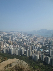 Kowloon Hong Kong from the Lion Rock