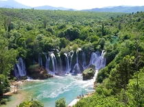 Kravica Waterfalls in Bosnia Situated in Europes last jungle
