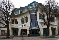 Krzywy Domek is an unusually shaped building in Sopot Poland